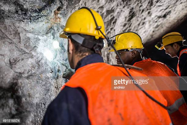 Group of men working at a mine