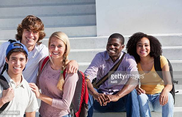 Group of multi-ethnic students