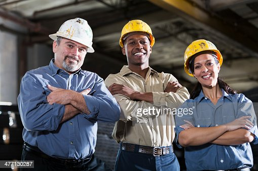 Group of multi-ethnic workers