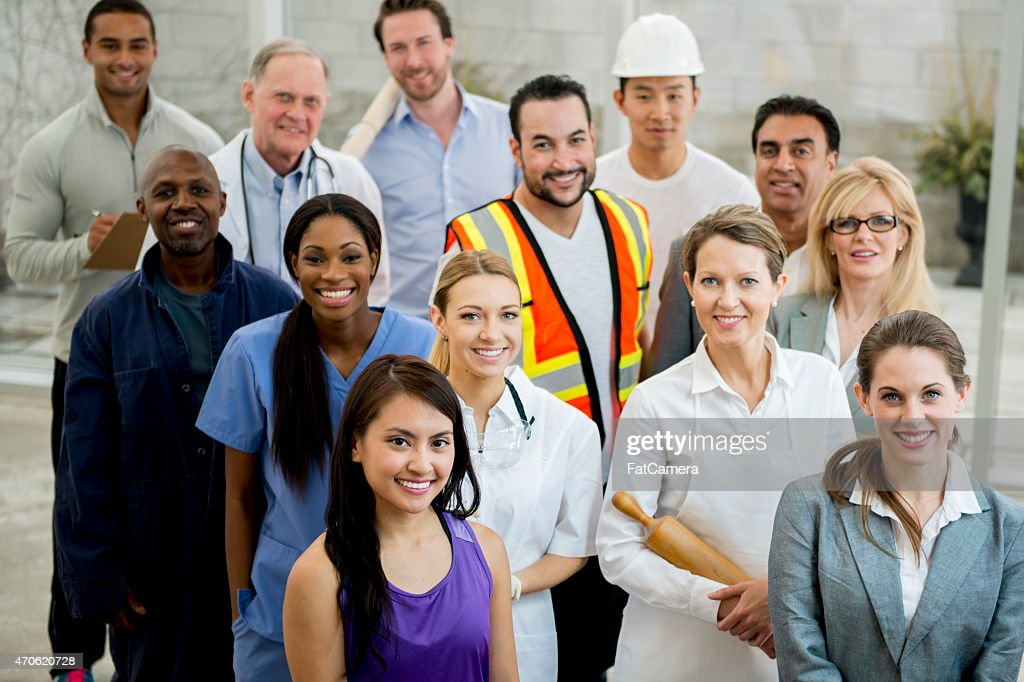 Group of Multi-Professionals : Stock Photo