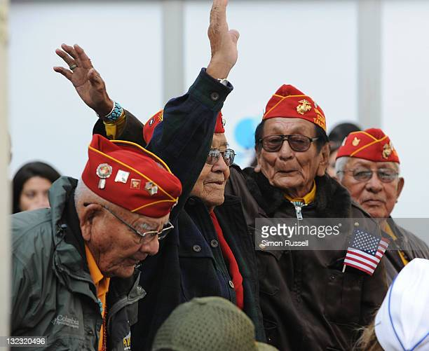 A group of Navajo Code Talkers attends the 2011 Citi Military Appreciation Day event to honor US veterans and current service members at Citi Pond in...