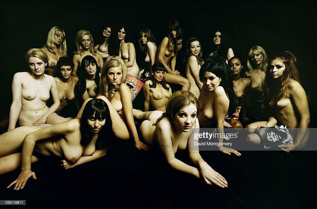A group of nude models photographed for the cover of the Jimi Hendrix album 'Electric Ladyland', London, 1968.