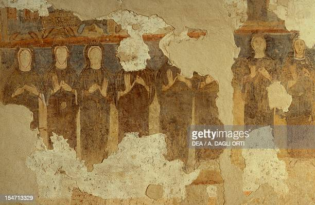 Group of nuns detail of a fresco from the tower of the monastery of Torba Castelseprio Italy 11th century