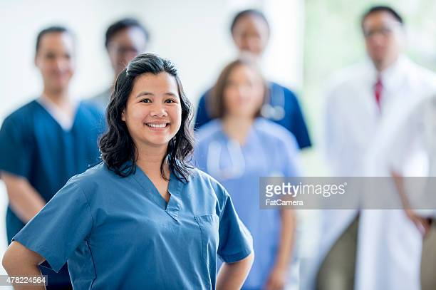 Group of Nurses and Doctors