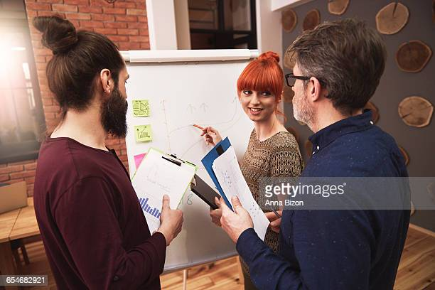 Group of people analyzing the result of their work. Rzeszow, Poland