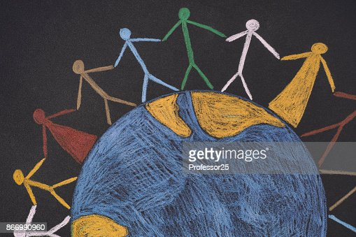 Group of people around the world : Stock Photo