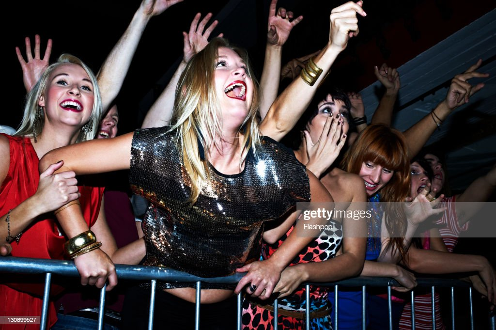 Group of people at a music concert
