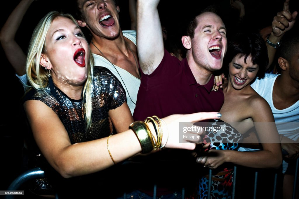 Group of people at a music concert : Stock Photo