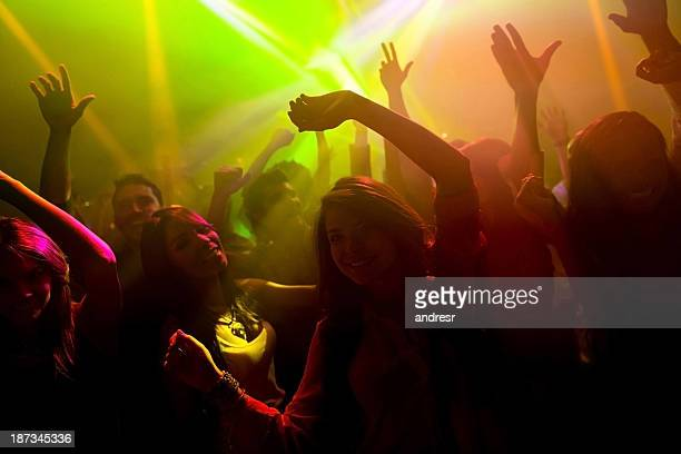 Group of people at a nightclub