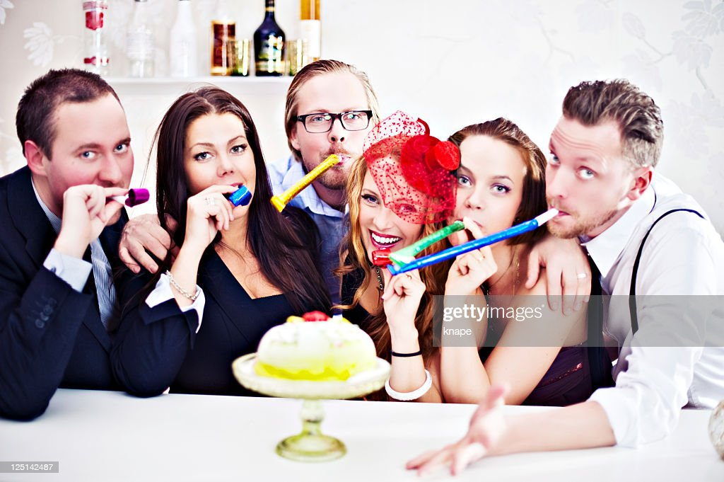 Group of people at a party : Stock Photo