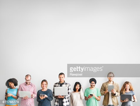 Group of People Connection Digital Device Concept : Stock Photo