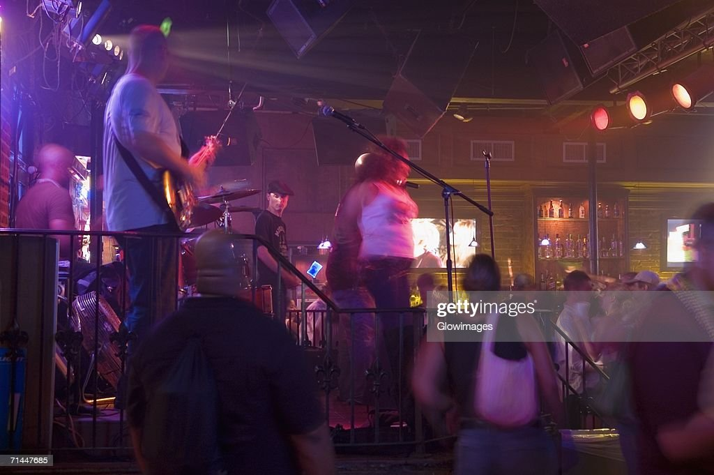 Group of people dancing at a nightclub, New Orleans, Louisiana, USA : Stock Photo