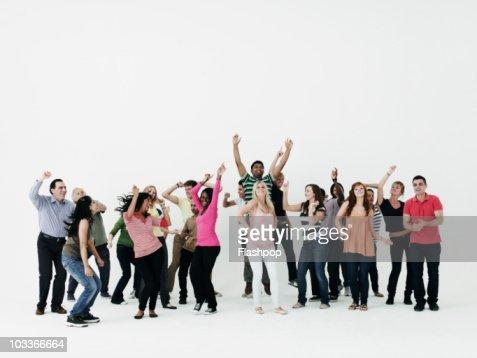 Group of people dancing : Bildbanksbilder