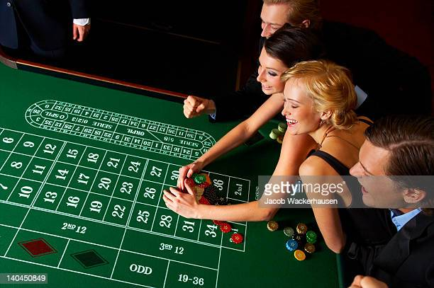 Group of people enjoying in casino