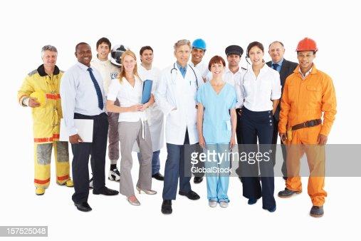 Groupe de personnes de leur propre professions