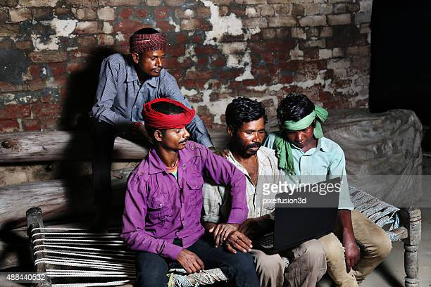Group of people Holding laptop