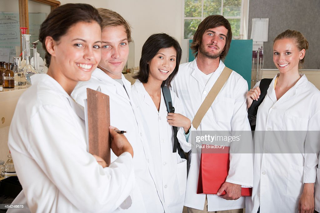 A group of people in a laboratory : Stock Photo
