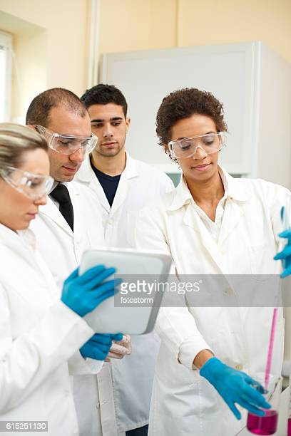Group of people in a laboratory