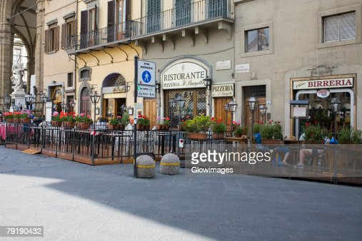 Group of people in a restaurant, Florence, Italy : Stock Photo