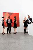 Group of people in art art gallery