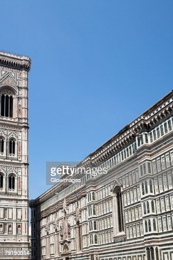 Group of people in front of a cathedral, Duomo Santa Maria Del Fiore, Florence, Tuscany, Italy : Stock Photo