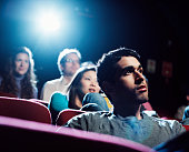 Group of people in movie theater