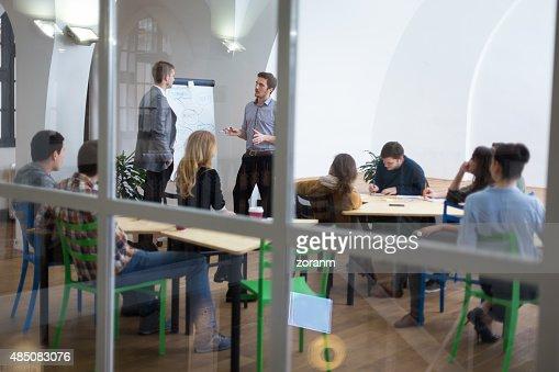 Group of people on seminar