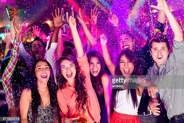 Group of people partying
