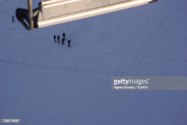 Group Of People Skiing In Poland