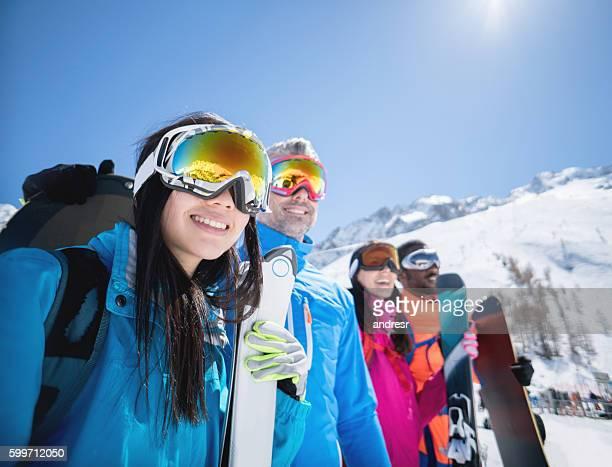 Group of people skiing