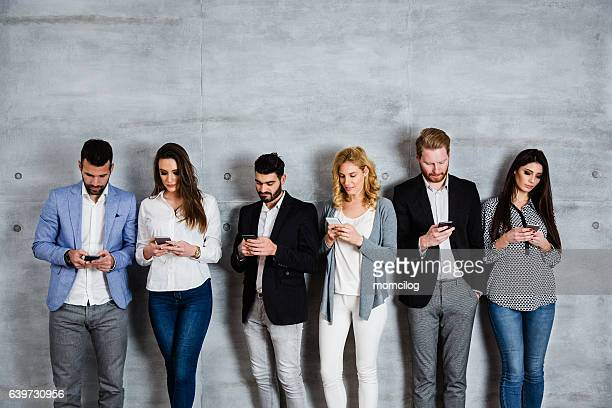 Group of people surfing the net