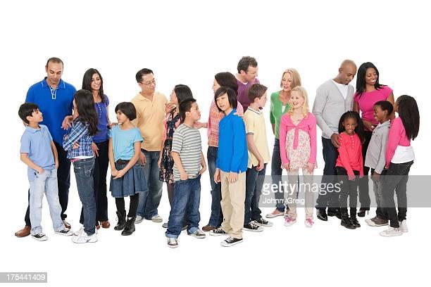 Gruppe von Menschen sprechen