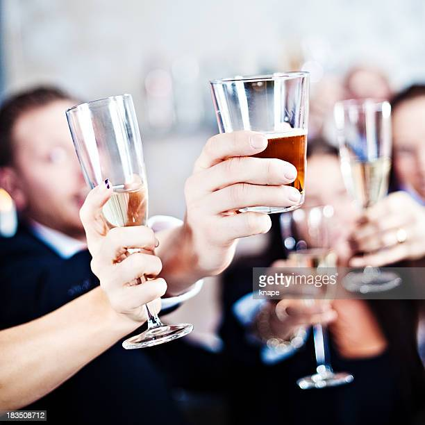 Group of people toasting