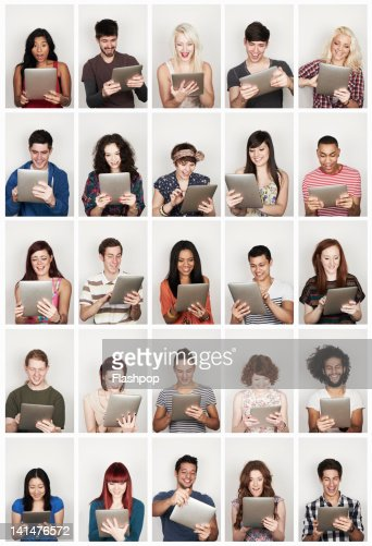 Group of people using a digital tablet : ストックフォト
