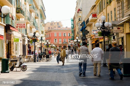Group of people walking in a market, Nice, France : Stock Photo