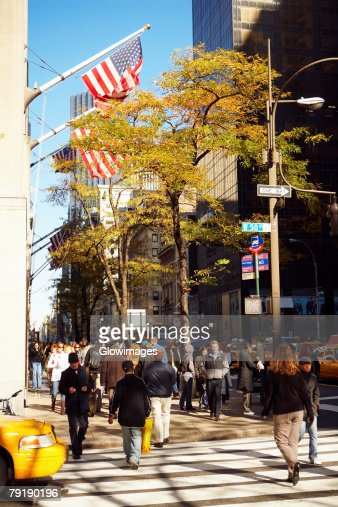 Group of people walking on a road, Brooklyn, New York City, New York State, USA : Foto de stock