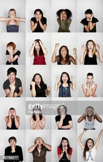 Group of people with different emotions : Photo