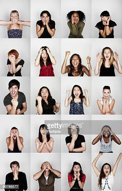 Group of people with different emotions