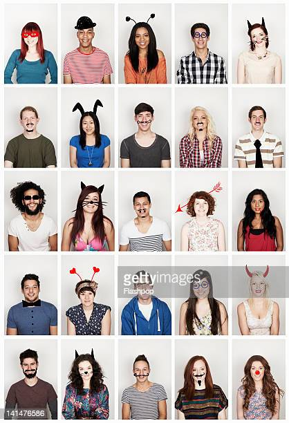 Group of people with funny faces