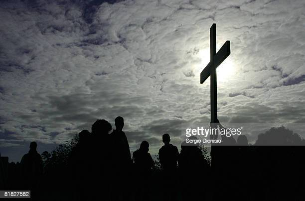 A group of pilgrims from around Australia takes part in the Journey of the Cross and Icon as part of the build up to World Youth Day Sydney 08 at the...