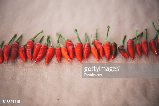 Group of red chilies. : Stock Photo