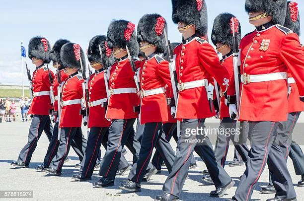 Group of Royal Guards marching at Quebec Citadel