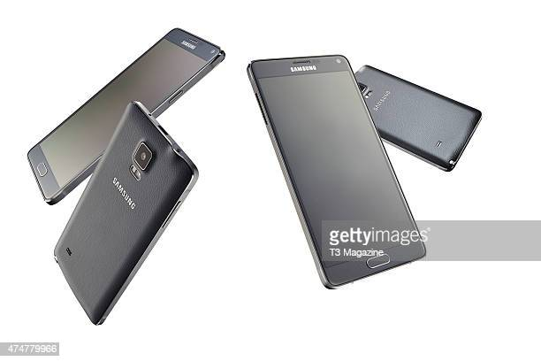 A group of Samsung Galaxy Note 4 smartphones taken on October 9 2014