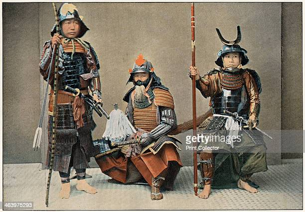 'A Group of Samurai' c1890 Illustration from the the booklet Au Japon Types Costumes Moeurs