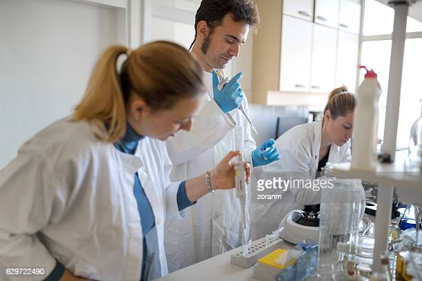 Group of scientist working in lab