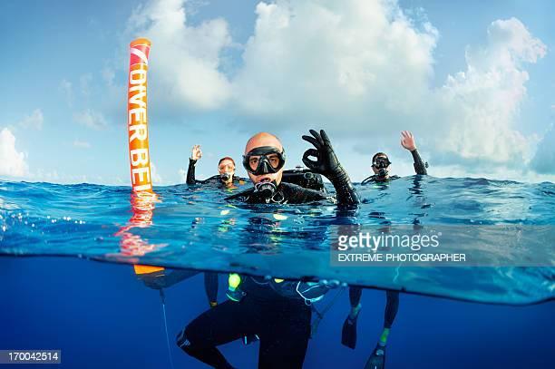 Group of scuba divers