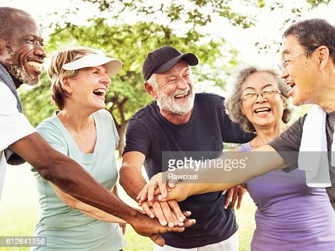Group Of Senior Retirement Exercising Togetherness Concept : Stock-Foto