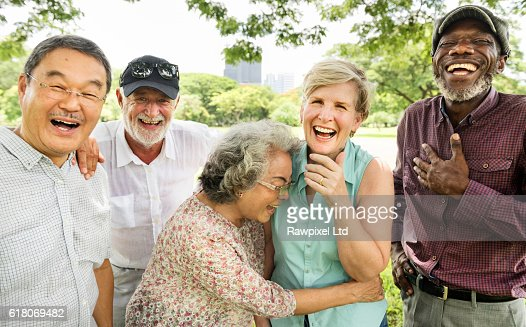 Group of Senior Retirement Friends Happiness Concept : Stock Photo