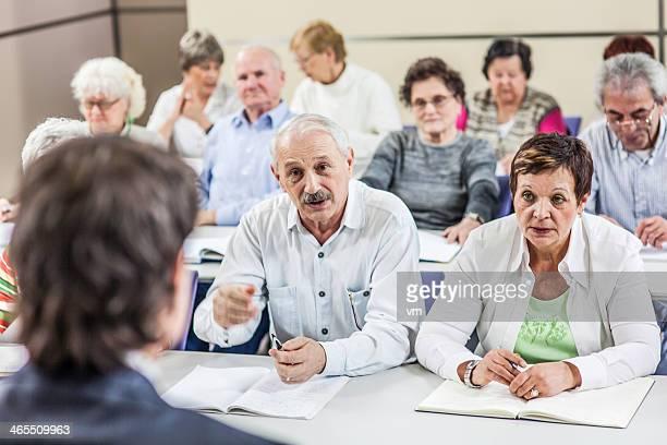 Group Of Seniors On The Seminar
