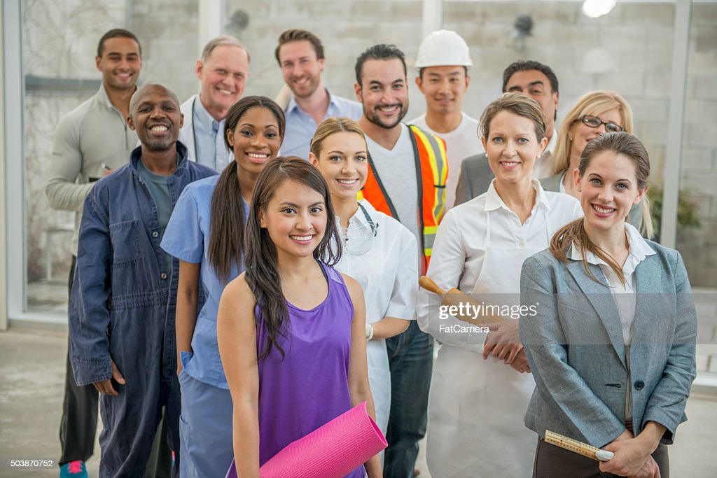 Group of Several Types of Business Professionals : Stock Photo